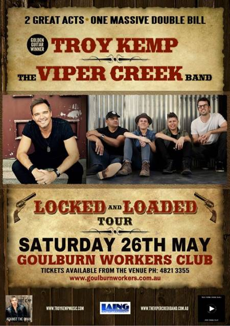 Troy Kemp + The Viper Creek Band LIVE at Goulburn Workers