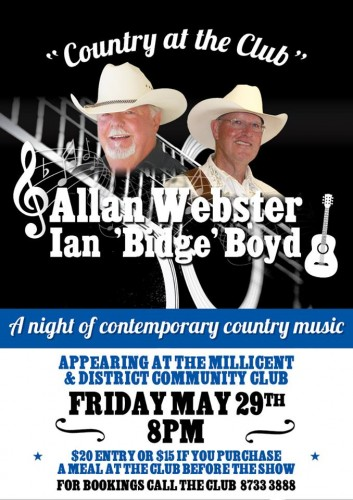 Allan Webster, Ian 'Bidge' Boyd @ Millicent & District Community Club | Millicent | South Australia | Australia