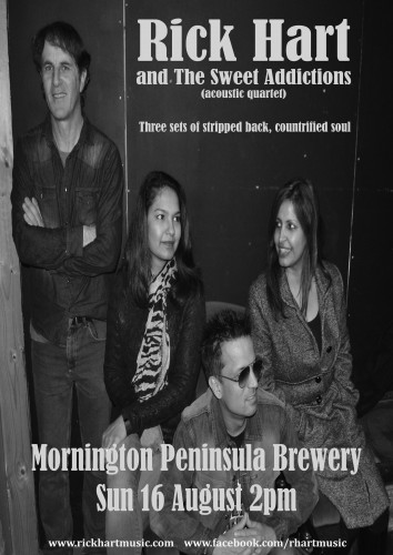 Rick Hart and The Sweet Addictions (acoustic quartet) @ Mornington Peninsula Brewery | Caboolture | Queensland | Australia