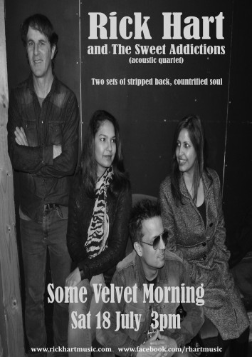 Rick Hart and The Sweet Addictions (acoustic quartet) @ Some Velvet Morning | Clifton Hill | Victoria | Australia