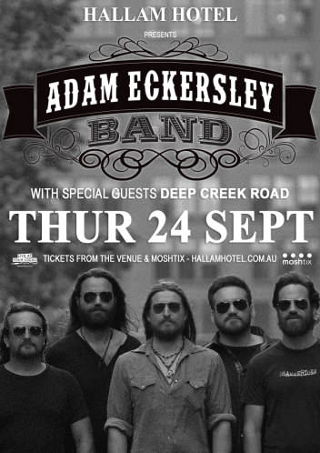 Adam Eckersley Band @ The Hallam Hotel | Hallam | Victoria | Australia