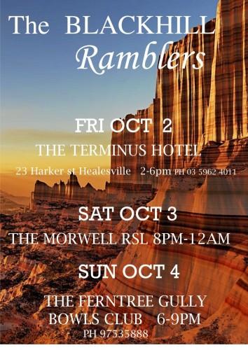 The Blackhill Ramblers @ Ferntree Gully Bowling Club @ FernTree Gully Bowling Club