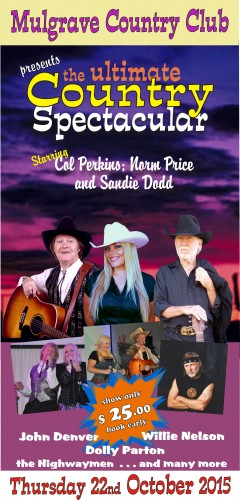 Country Spectacular! Col Perkins, Sandie Dodd, Norm Price @ Mulgrave Country Club
