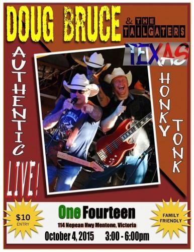 Doug Bruce & The Tailgaters @ OneFourteen | Mentone | Victoria | Australia