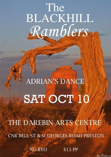 The Blackhill Ramblers @ Darebin Arts Centre Preston @ Darebin Arts Centre.