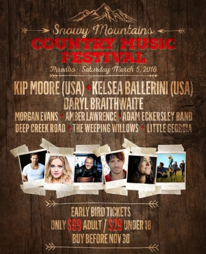 Snow Mountain Country Music Festival @ Threadbo